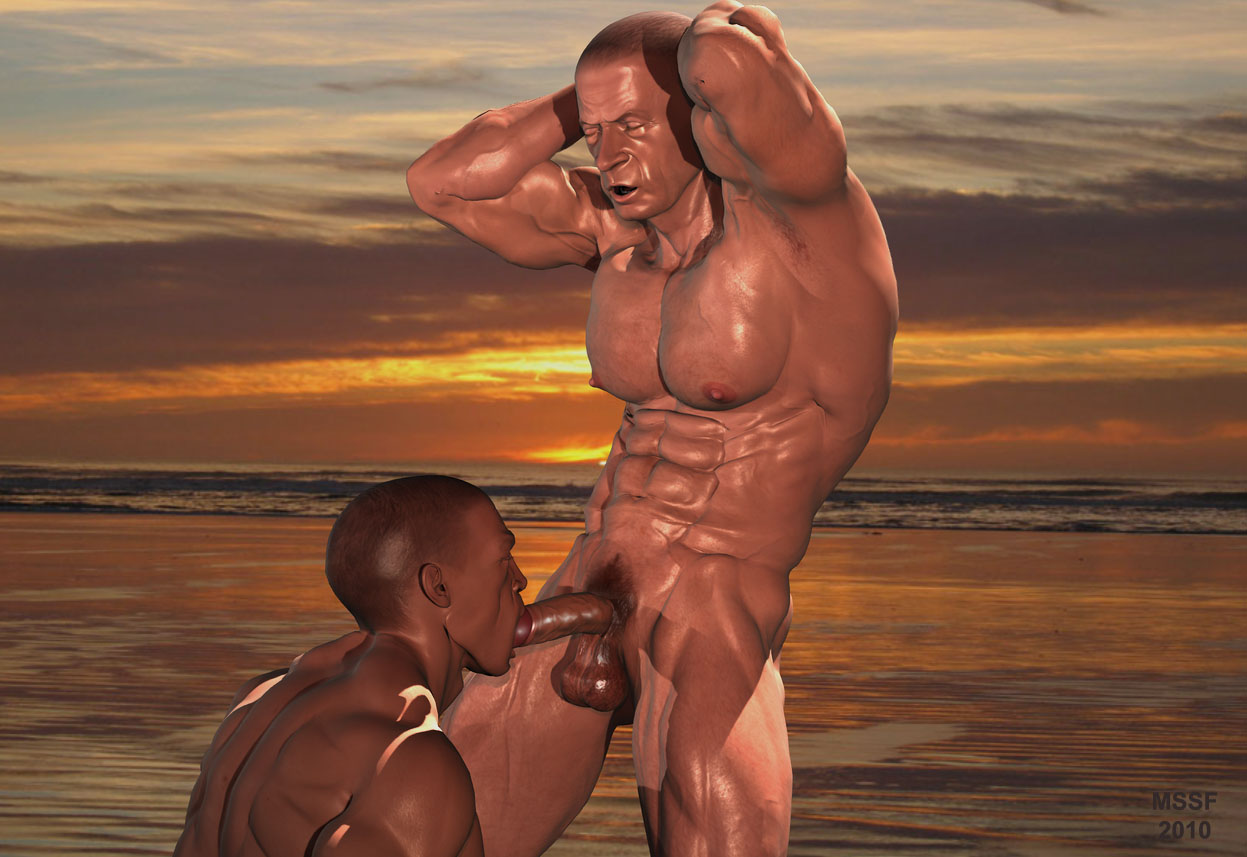 beach Muscle men nude