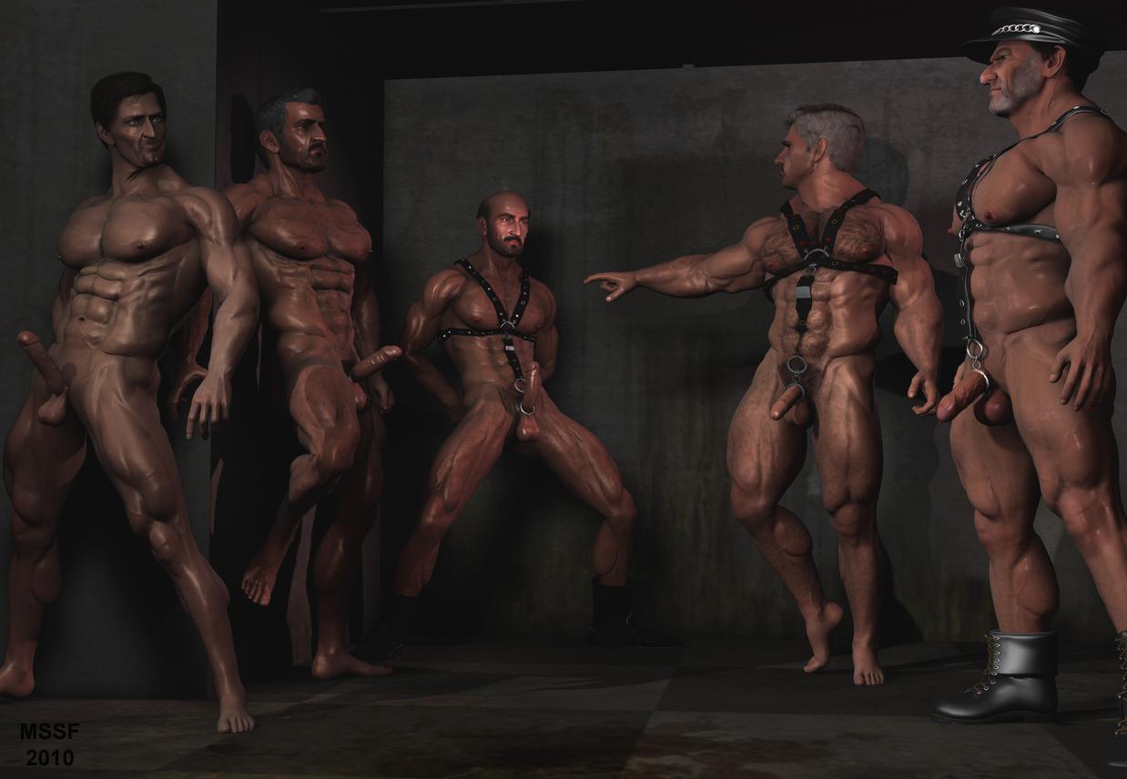 Gay muscle art