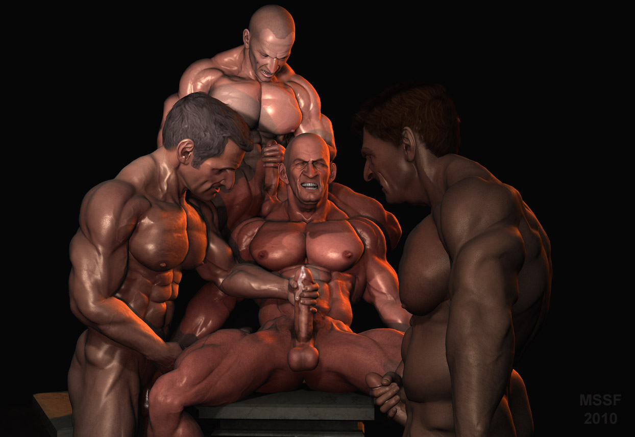 Roman orgy art work can