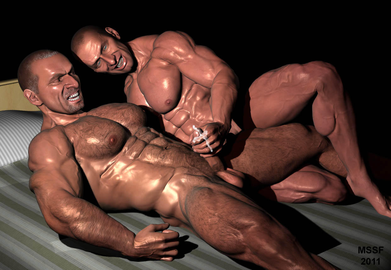 Interracial gay black on white
