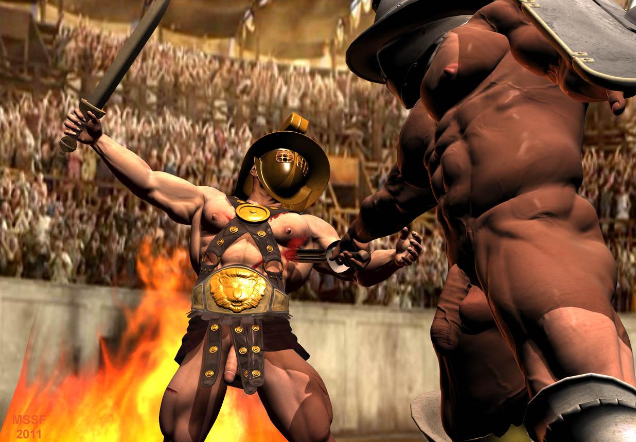 gay naked gladiator