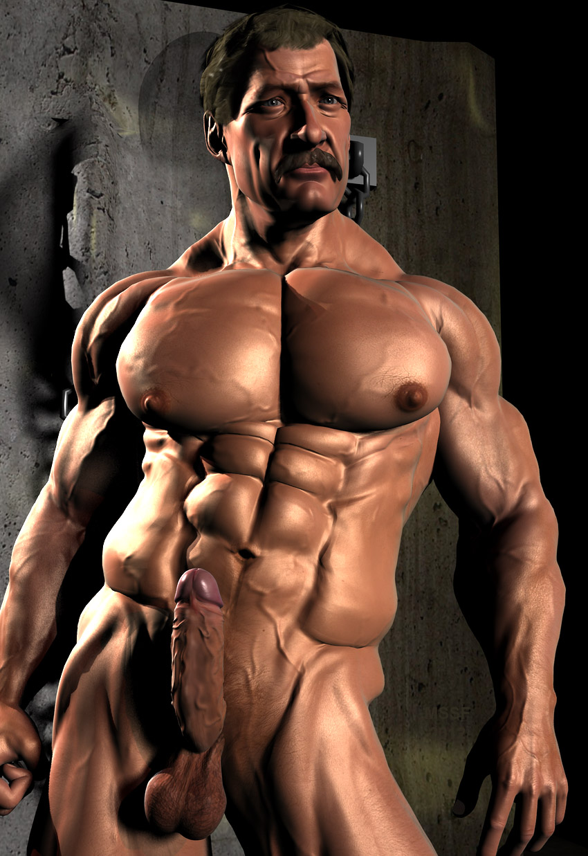 Women bodybuilder 3d art nude sex photo